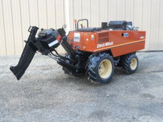 2007 Ditch Witch 255sx 173 Hours Vibratory Cable Plow Tilt Trailer