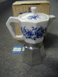 Mint flory Express Blue Flower Italy Expresso Maker