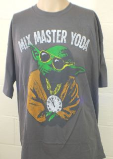 New Star Wars Yoda Mix Master Flavor Flav Retro Vintage Style XL Shirt