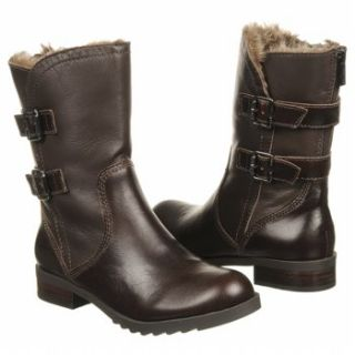 Womens KENNETH COLE REACTION Love Lockdown Dark Brown Leather Shoes