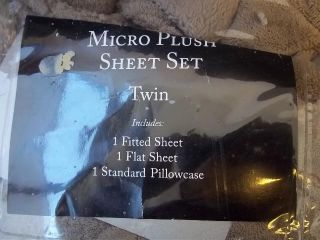 Plush Fleece Micro Plush Chocolate Twin Sheet Set