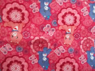 Yard Quilting Sewing Fabric Care Bears on Red