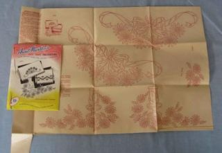 Hot Iron Fabric Transfers Floral Pattern Design Vintage Aunt Marthas 2