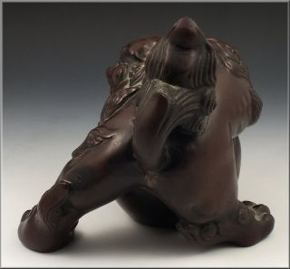 Fine Japanese Meiji Period Bronze Foo Dog Sculpture / Statue