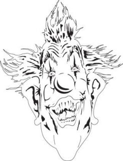 Clown Face Klown 1 Airbrush Stencil Air Brush Template