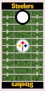 Pittsburgh Steelers Football Field Cornhole Game Decal Set