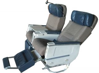 Business First Class Airline Airplane Aircraft Seats Reclining Leather