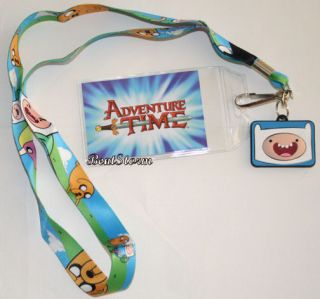 New Adventure Time with Finn and Jake Lanyard 2 Sided 3 D Charm ID