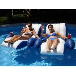 Intex Floating Pool Lounger Float Lounge Chair Swimming Swim Aqua