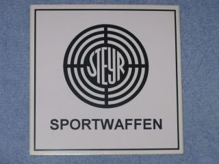 RARE Steyr Arms Firearms Sportwaffen 4 Sticker Decal Logo Sniper Gun