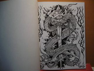 Filip leu DRAGONS TATTOO FLASH SKETCH Art A4 Book Vol. I & II