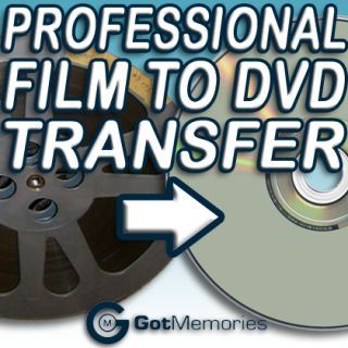 16mm Movie Film to DVD Transfer Service No Projector