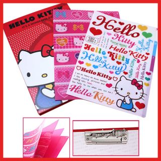 Sanrio Hello Kitty Stationery File 3 Tab Poly Folder