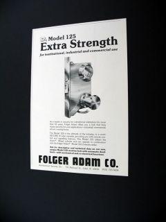 Folger Adam Model 125 Mortise Lock 1975 Print Ad