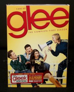 GLEE Complete First Season DVD Set   THE GLEEK EDITION 2 Hrs BONUS