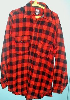 mens wool shirt jacket Woolrich size 15 sporting goods hunting MUST