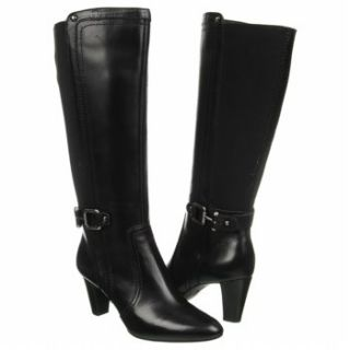 Womens Anne Klein Gallagher Wide Calf Black Leather