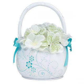 Floral Wedding Flower Girl Basket Wedding Ceremony flower girl baskets