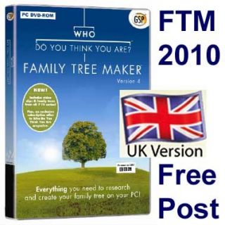 Family Tree Maker 2010 UK Full Program Upgrade New