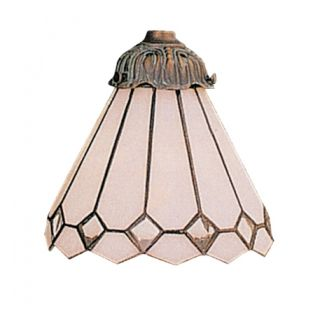 Diamond Tiffany Style Stained Glass Ceiling Fan Shade