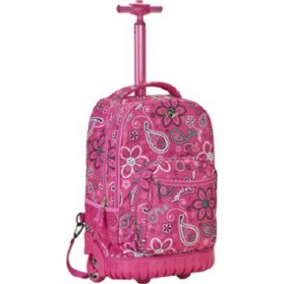 Accessories Rockland Luggage Sedan 19 Rolling Backpack Pink Bandana