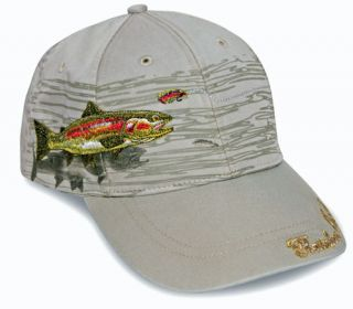 Rainbow Trout Cap Fishing Hat Detailed Embroidery