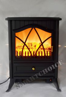 Free Standing Portable Electric Fireplace Firebox Heater 18D2PS