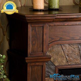 JULIAN Espresso Gel Fuel Fireplace Corner Or Flat Wall Tv Stand