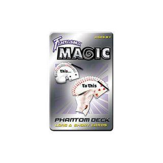 Fantasma Magic Phantom Deck Long Short Cards 25 Illusions IBM Trick