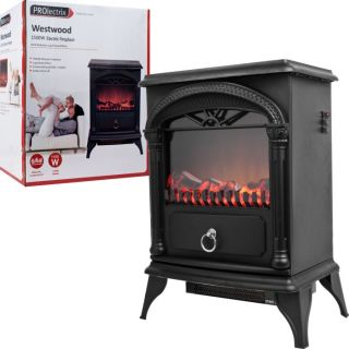 Prolectrix Westwood Electric Fireplace Heater Free Standing 1500 Watt