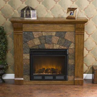 SEI Electric Fireplace Media Console Fireplace Home Decor Antique Oak