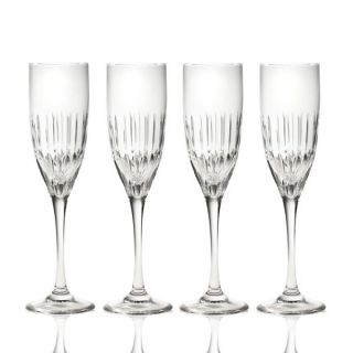Mikasa Arctic Lights Modern Crystal Champagne Flutes 4