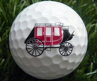wells fargo bank logo golf ball titleist used no scuffs no pen