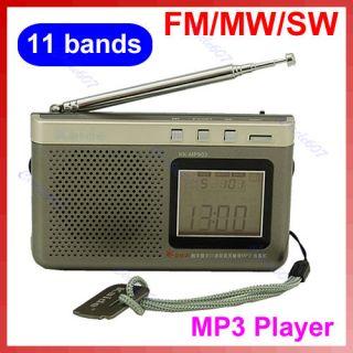 FM MW SW High Sensitivity Digital 11 Bands  Radio