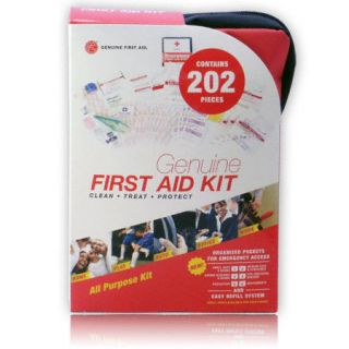 202 Pieces Red Genuine First Aid Kit Model FA R202