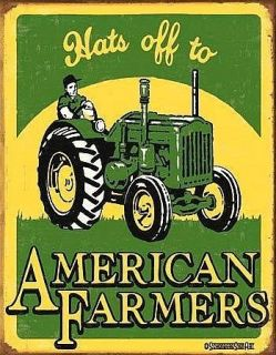American Farmer JD John Deere Tractor Metal Sign 1173