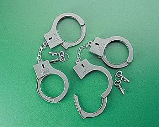 12 Cowboy Sheriff Handcuffs Birthday Party Favors
