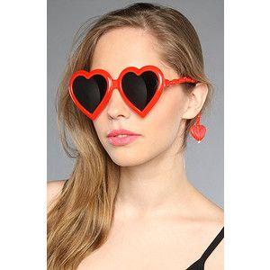 Jeremy Scott x Linda Farrow Red Heart Shaped Sunglasses Stunnerz BNIB