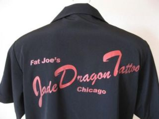 New 50s Fat Joes Jade Dragon Tattoo Chicago 2Tone Pinup Panel Bowling