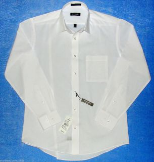 Mens Pierre Cardin White Slim Fit Long Sleeve Dress Shirt Size 15 15 1