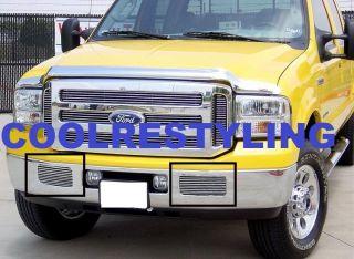 05 07 Ford F250 F350 F 250 F 350 F450 Tow Hook bumper Billet Grille