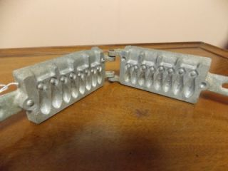 Vintage Universal Cast Aluminum Fishing Sinker Mold 2