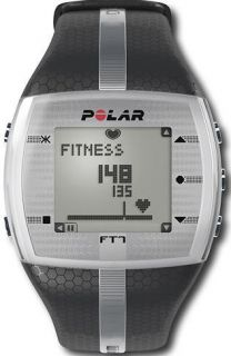 Mens Polar Heart Rate Monitor Fitness Watch FT7 BLACK/SILVER