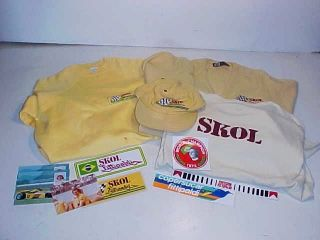 Emerson Fittipaldi Skol Race Team Decals Shirt Mixed Lot Indy Racing