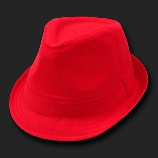 Basic Short Brim Plain Woven Cotton Fedora Fedoras Hat Hats Sz L XL
