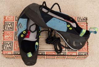 Five Ten 5 10 Wrench Rock Climbing Shoe US 8 0 EU 41 Blue USA Made NEW