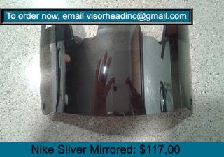 Nike Gridiron Silver Mirrored Football Eyeshield