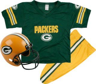 Green Bay Packers Kids Youth Football Helmet Uniform Set