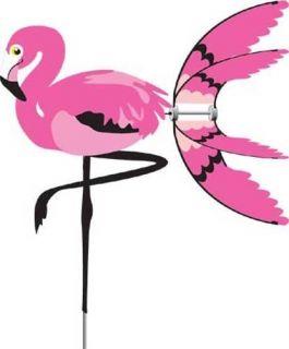 Pink Flamingo Bird Wind Spinner Whirligig Garden Stake