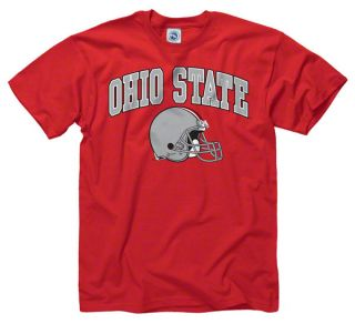Ohio State Buckeyes Red Football Helmet T Shirt